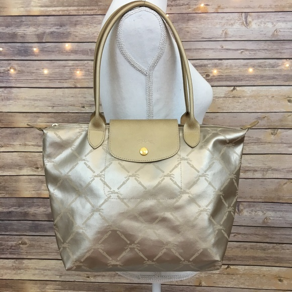 Longchamp Bags   Lm Metal Medium Shoulder Tote   Poshmark d42764d74a